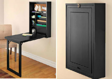 Wall table, pull out table, multi functional furniture