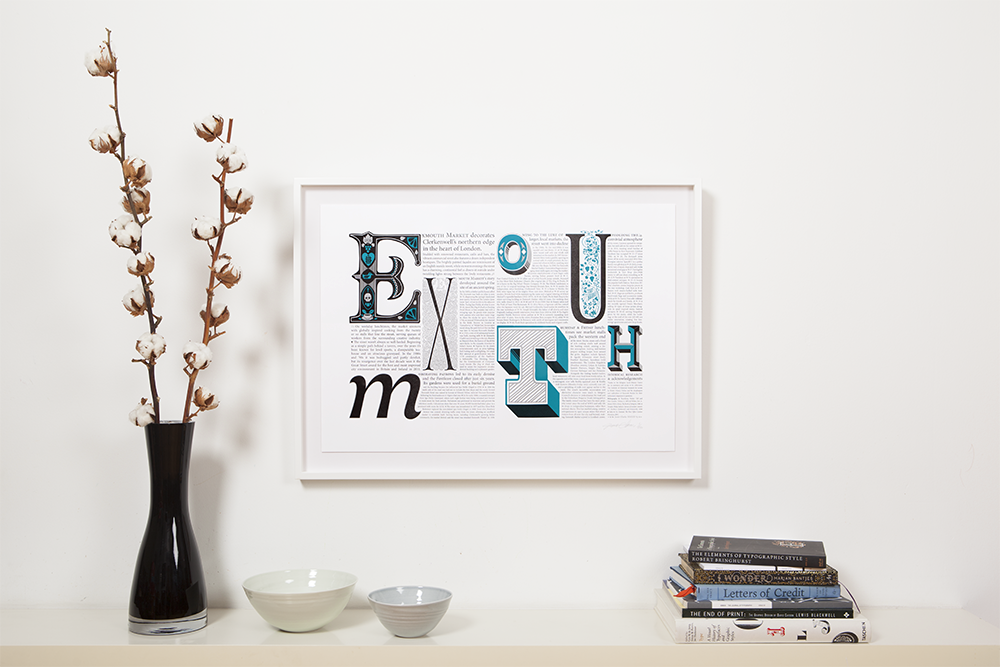 framed typography