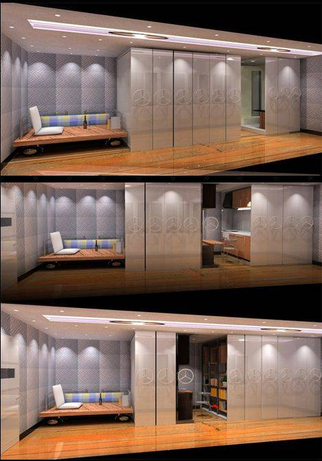 small apartment movable walls